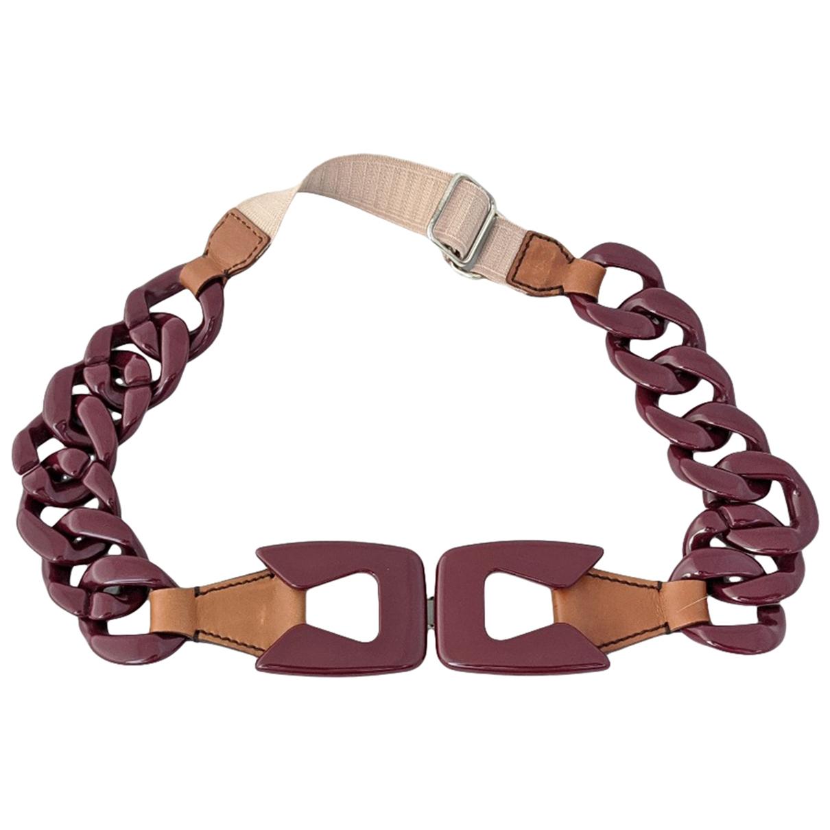 Prada \N Burgundy Leather belt for Women 75 cm