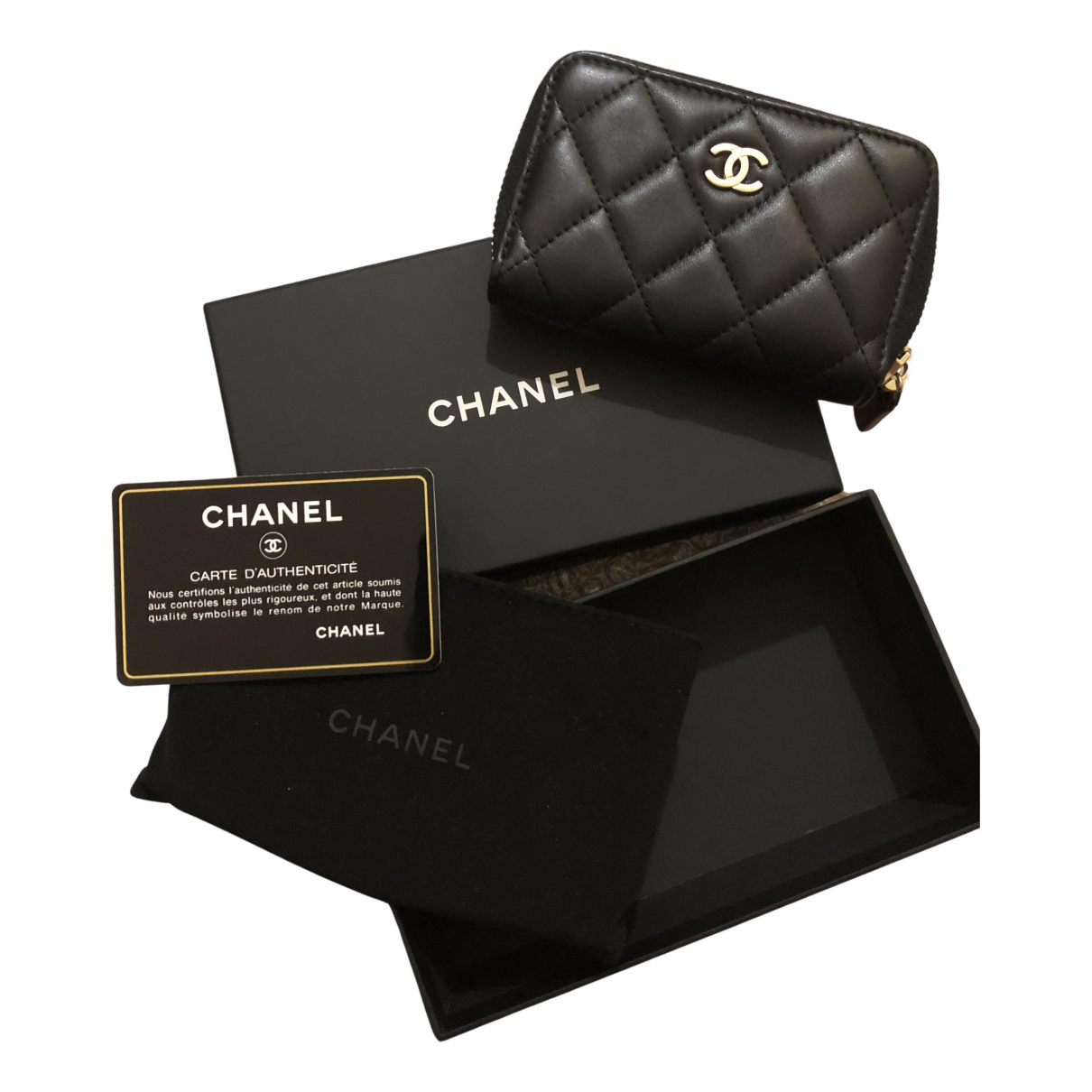 Chanel Timeless/Classique Black Leather Purses, wallet & cases for Women N