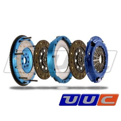 UUC Motorwerks UUC-TD-B13-E46-6SSG-FE Twin Feramic Disk Flywheel/Clutch Package BMW 330i/Ci E46 6-Speed w/ SSG