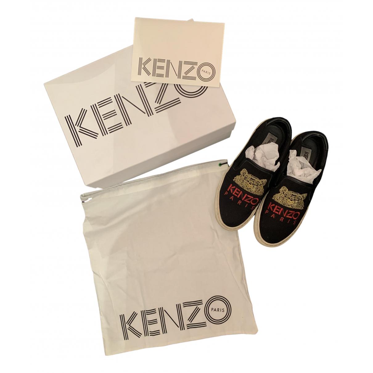 Kenzo N Black Cloth Trainers for Women 36 EU