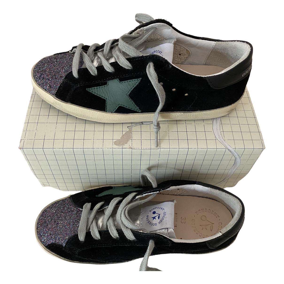 Golden Goose Superstar Sneakers in  Schwarz Veloursleder