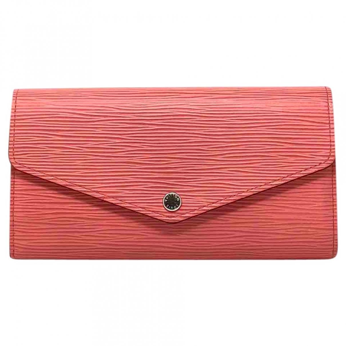 Louis Vuitton - Portefeuille Sarah pour femme en cuir - rose
