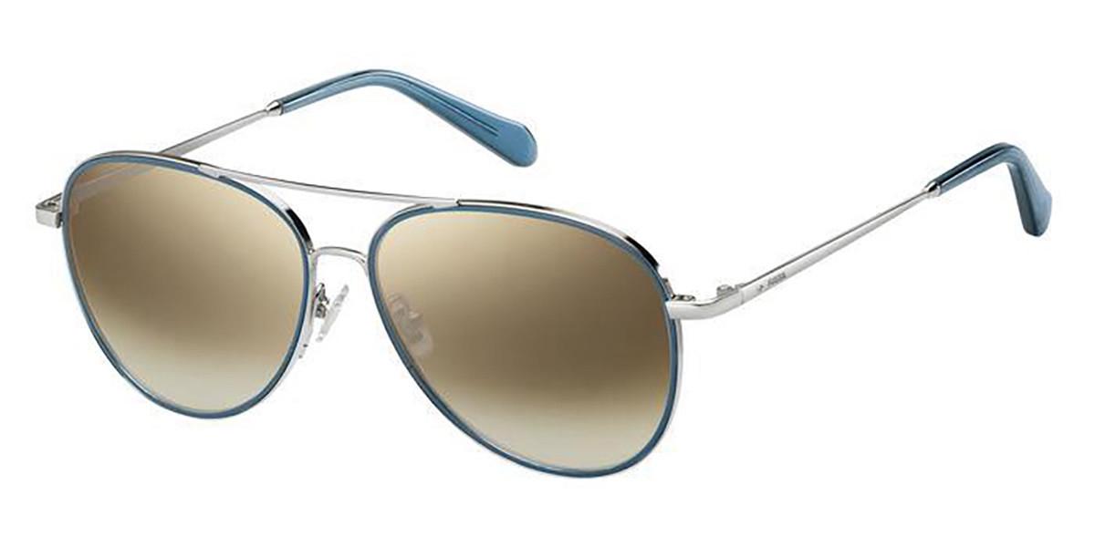 Fossil FOS 2096/G/S 010/NQ Men's Sunglasses Silver Size 57