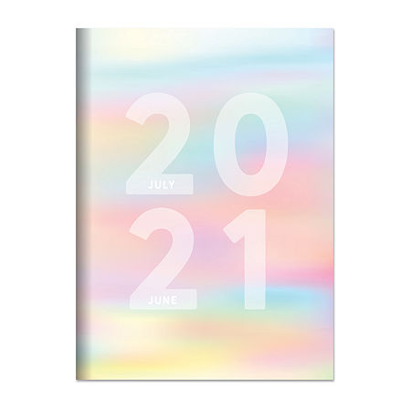 Tf Publishing July 2020 - June 2021 Diverging Colors Medium 7.5 X 10.25 Monthly Planner, One Size , Multiple Colors