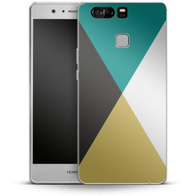 Huawei P9 Silikon Handyhuelle - Four Triangles von caseable Designs