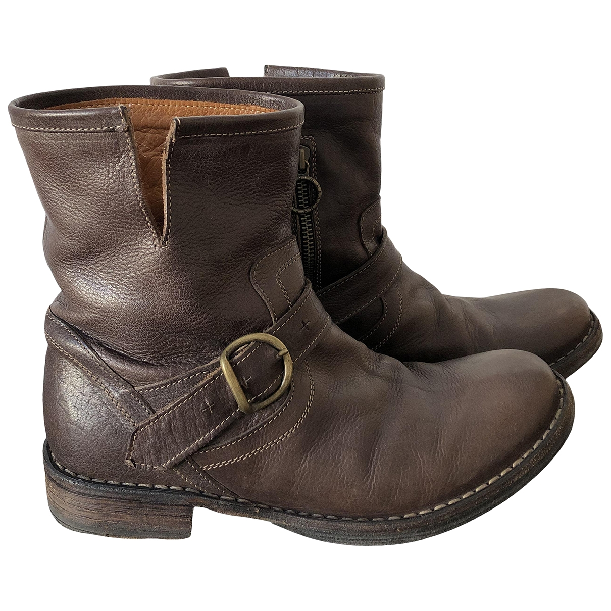 Fiorentini+baker \N Brown Leather Boots for Women 38 EU