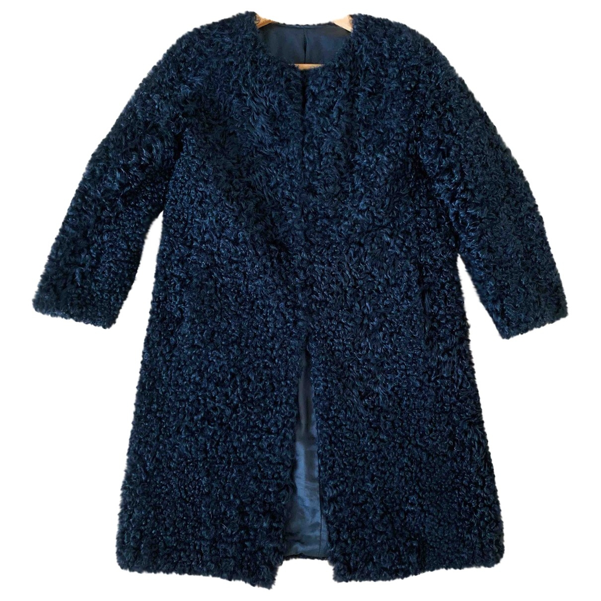 Non Signé / Unsigned \N Black Mongolian Lamb coat for Women 34 FR