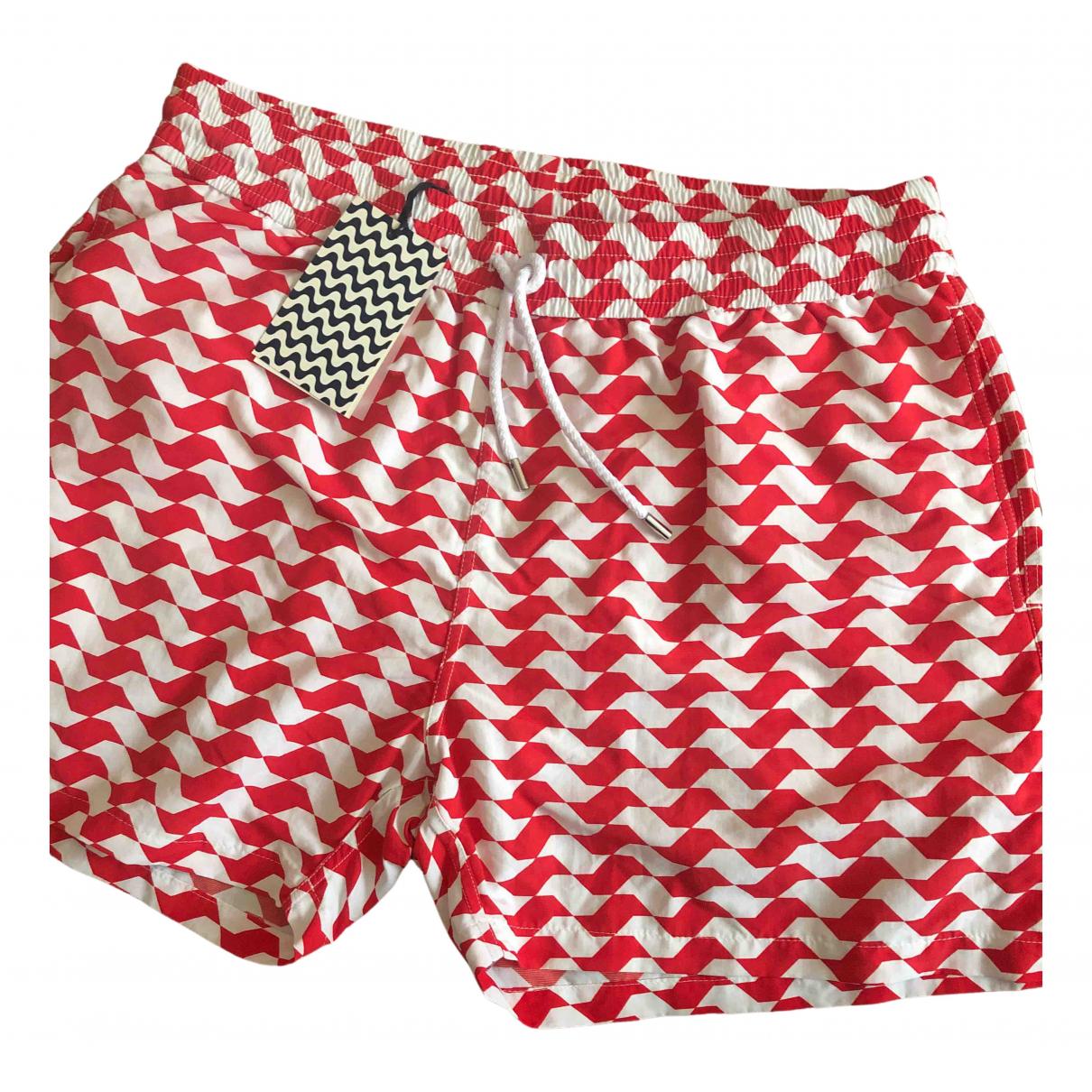 Frescobol Carioca - Bain   pour homme en coton - elasthane - rouge