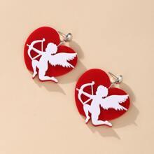 Angel Heart Drop Earrings