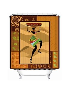 Creative Design Pattern Anti-Bacterial Eco-friendly Polyester Material Shower Curtain