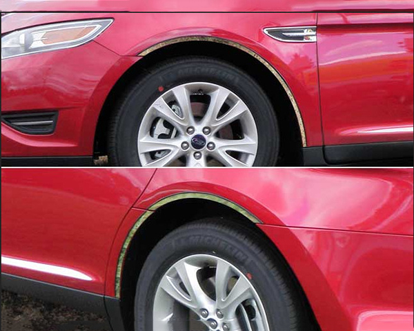 Quality Automotive Accessories 6-Piece Stainless Steel Wheel Well Fender Trim Kit Ford Taurus 2013