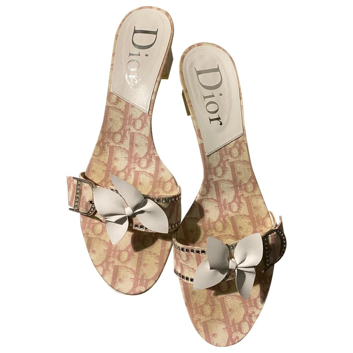 Dior \N Clogs in Leinen