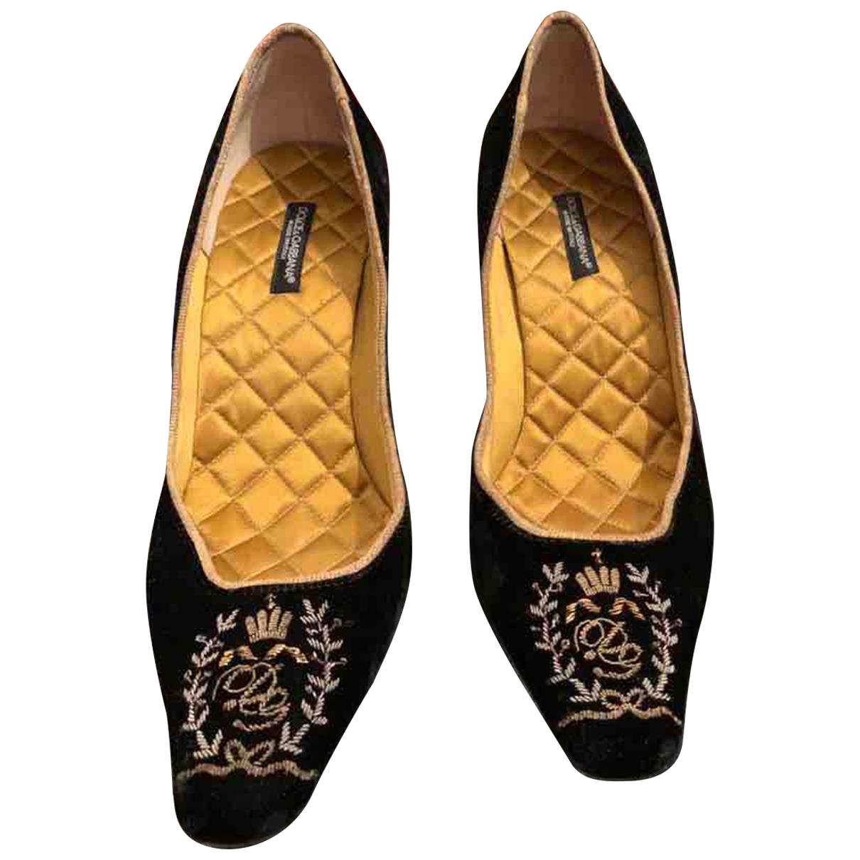Dolce & Gabbana \N Pumps in  Schwarz Samt