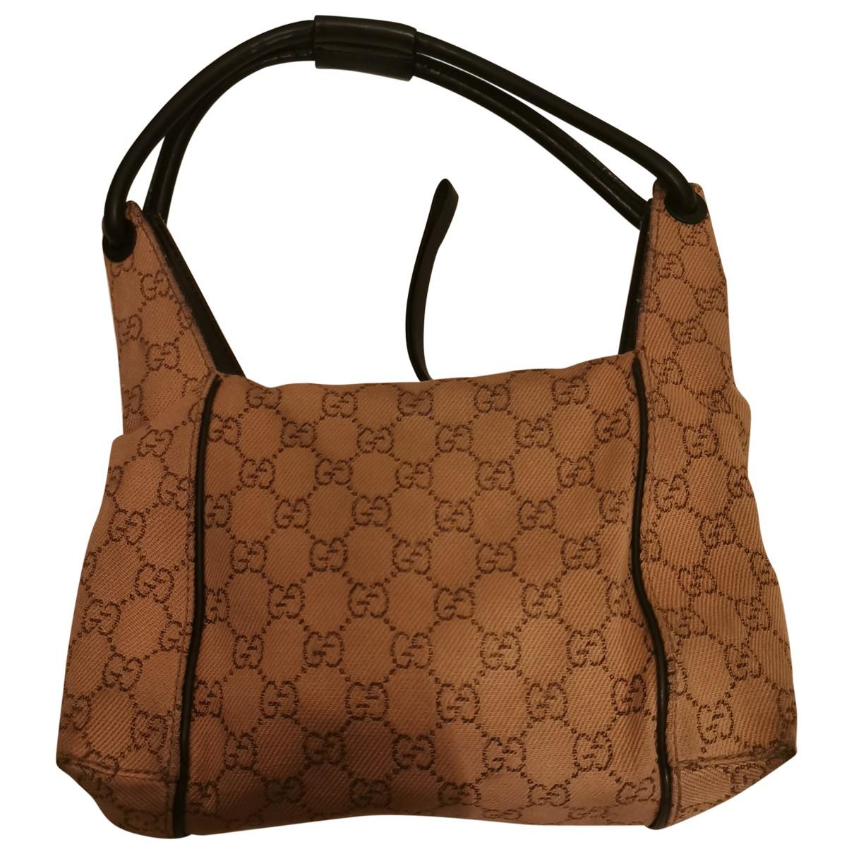 Gucci \N Handtasche in  Kamel Leinen