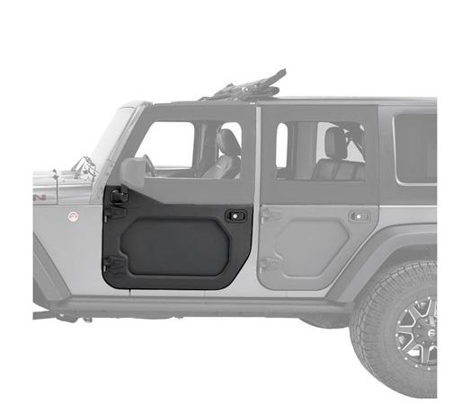 Bestop 51730-01 Black Front Lower Core Door Jeep Wrangler JK 2007-2018