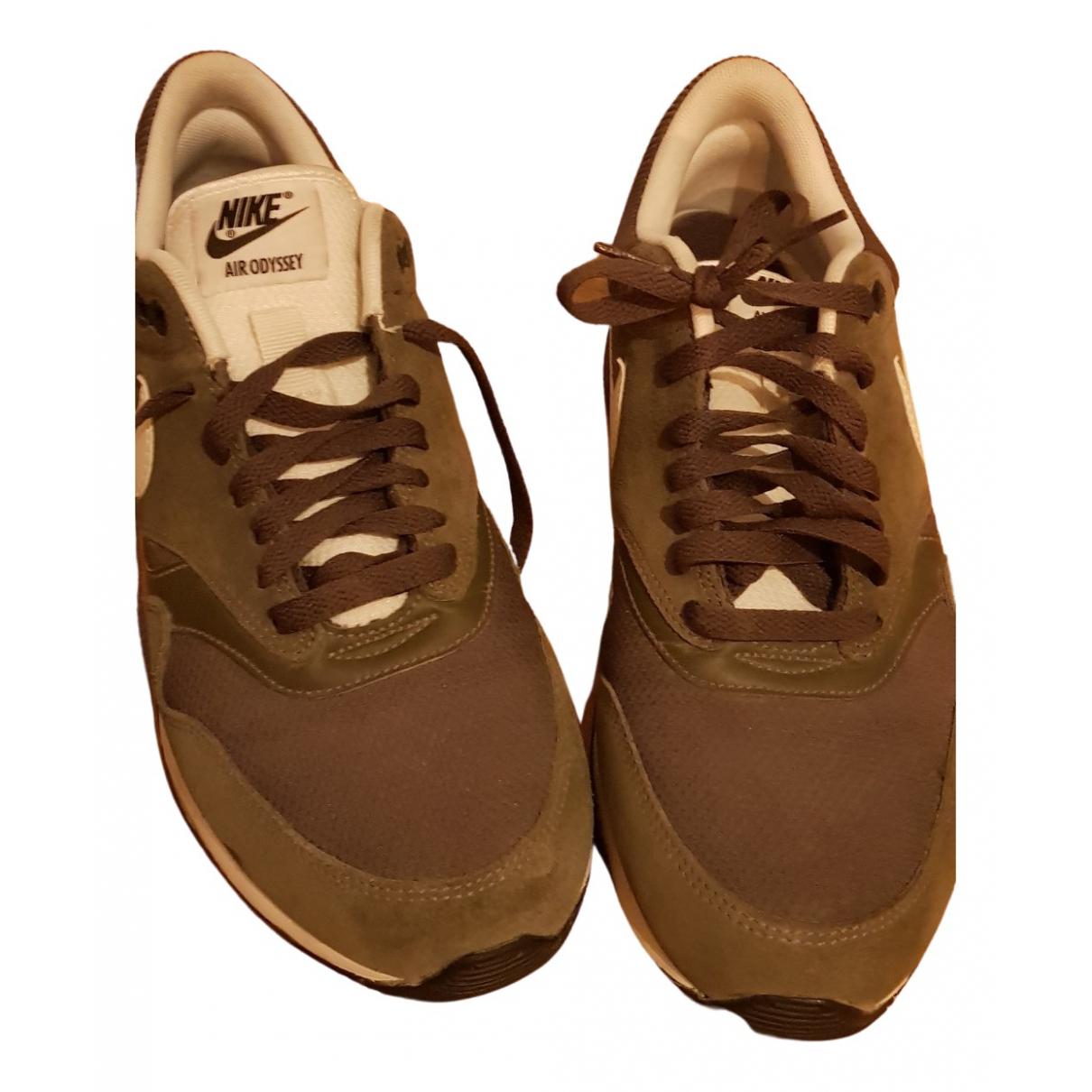 Nike - Baskets   pour homme en cuir - kaki