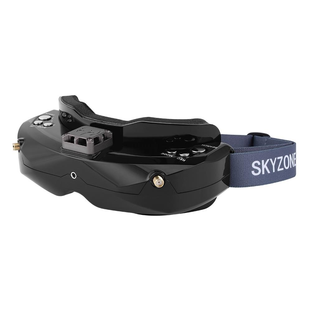 Skyzone SKY02C 5.8G 48CH True Diversity FPV Goggles Built-in Fan DVR Support HDMI IN For Racing Drone - Black