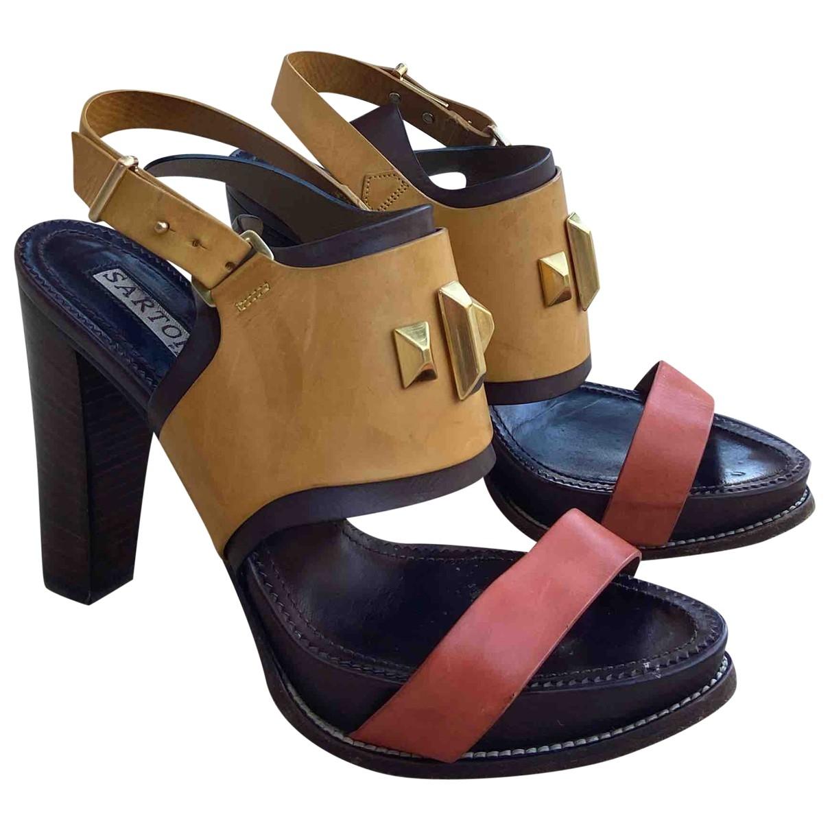 Sartore - Sandales   pour femme en cuir - multicolore