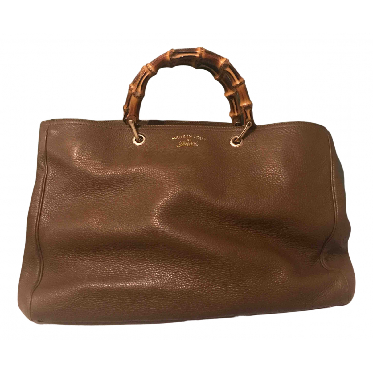 Gucci Bamboo Beige Leather handbag for Women N