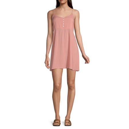Arizona Sleeveless Slip Dress-Juniors, X-small , Orange