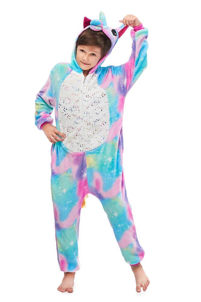 Nouveau Kigurumi enfants pyjamas pour enfants Animal dessin anime couverture dormeurs Costume hiver garcon dorure Pegasus Onesie