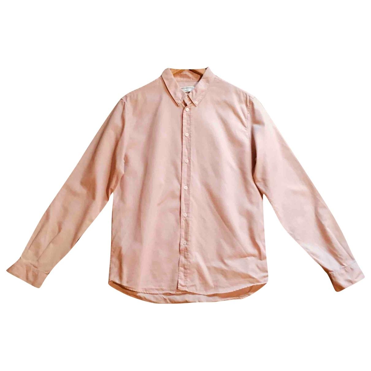 Editions M.r \N Pink Cotton Shirts for Men 40 EU (tour de cou / collar)