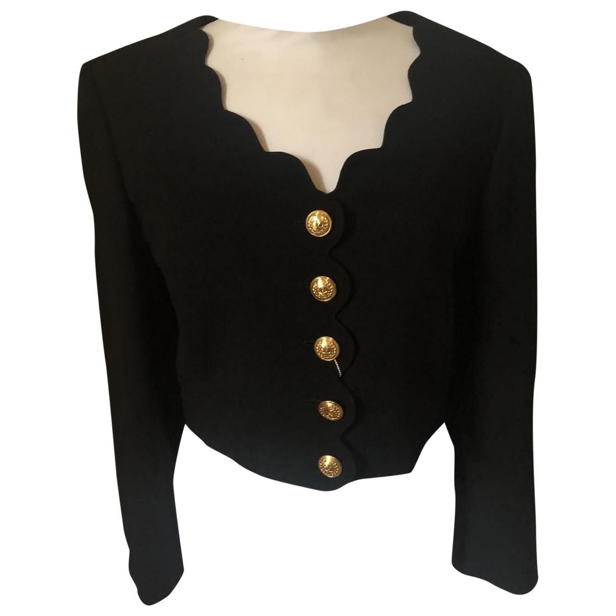 Valentino Garavani \N Black Wool jacket for Women 40 IT