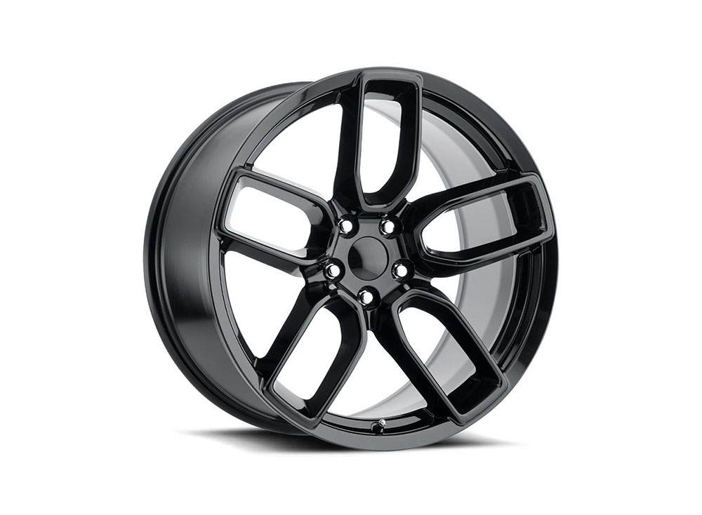Factory Reproduction Series 74 Wheels 20x10.5 5x115 -9 HB 71.5 Hellcat Widebody Gloss Black w/Cap