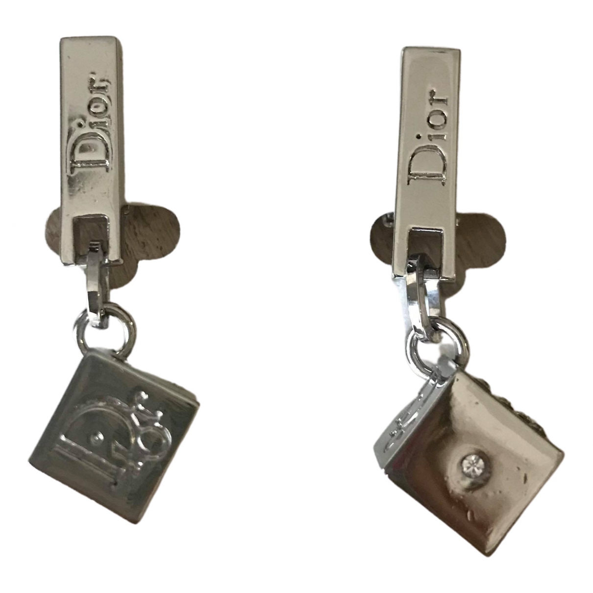 Dior \N Silver Metal Earrings for Women \N