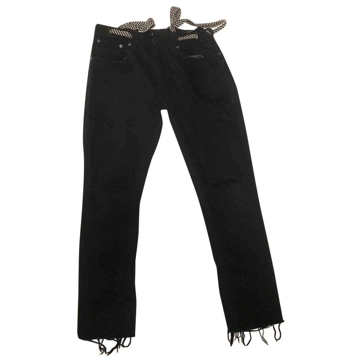 Levi's 501 Black Cotton - elasthane Jeans for Women 30 US
