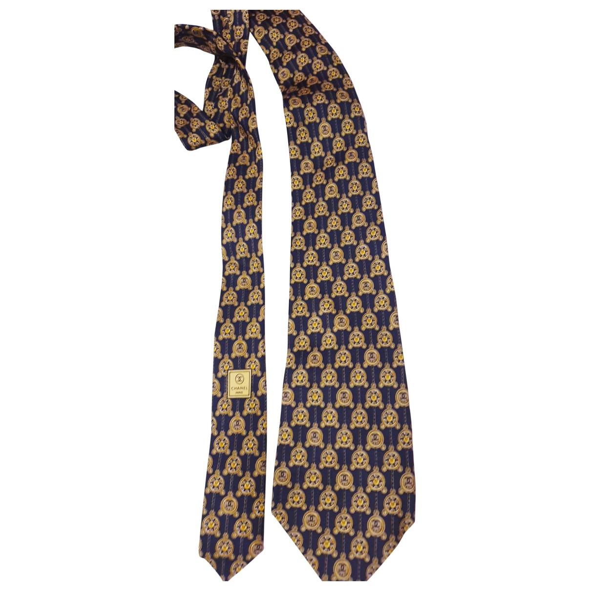 Chanel \N Krawatten in  Schwarz Seide