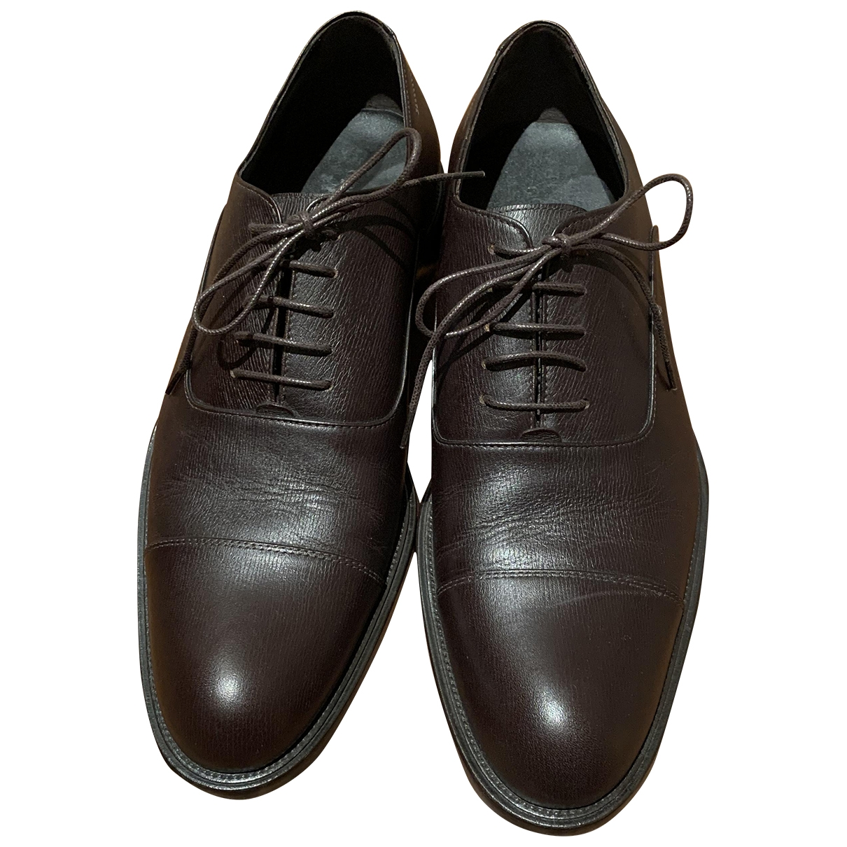 Giorgio Armani - Derbies   pour homme en cuir - marron
