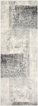 Harput HAP-1059 311 x 57 Rectangle Modern Rug in Light Gray  Beige  Charcoal