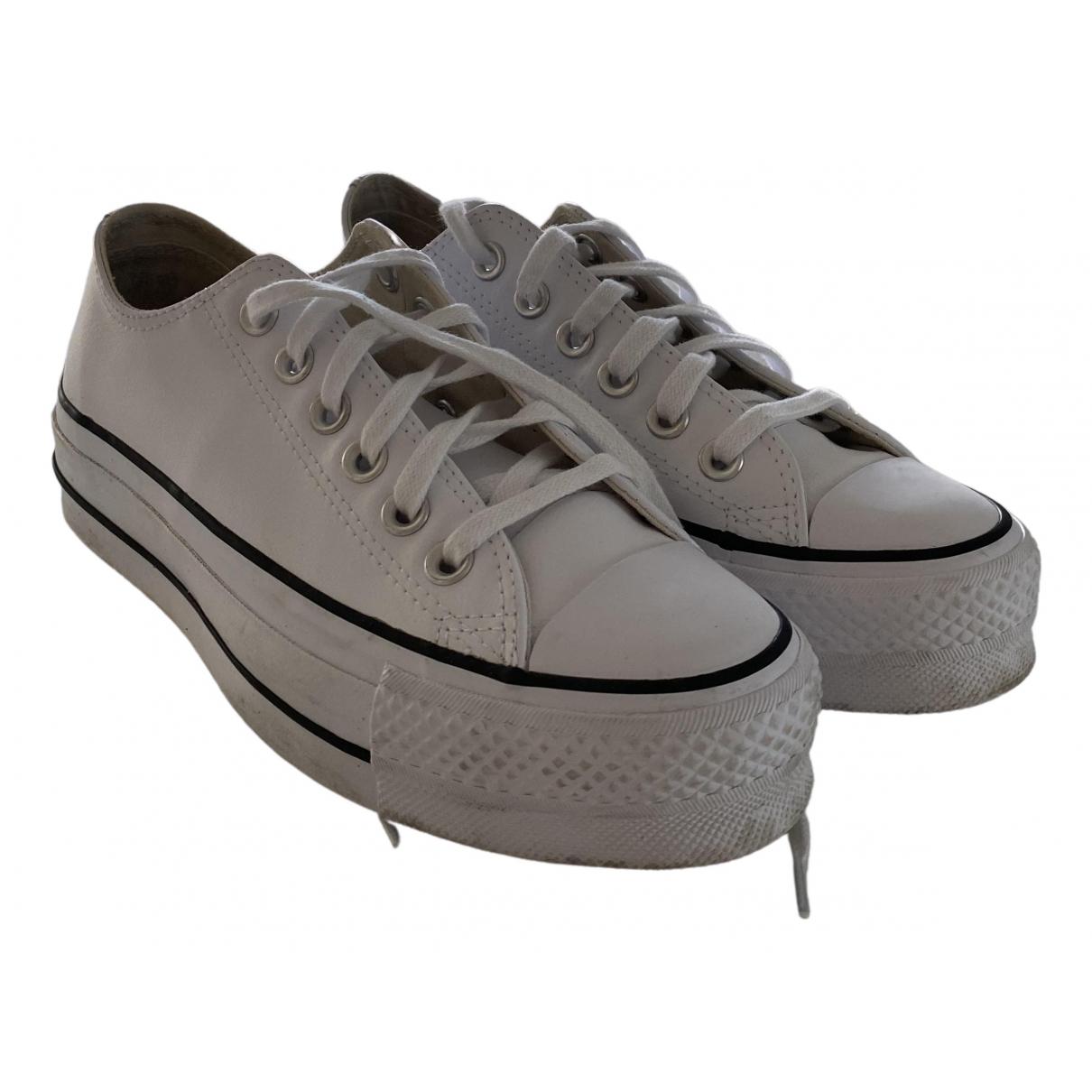 Converse \N Sneakers in  Weiss Lackleder
