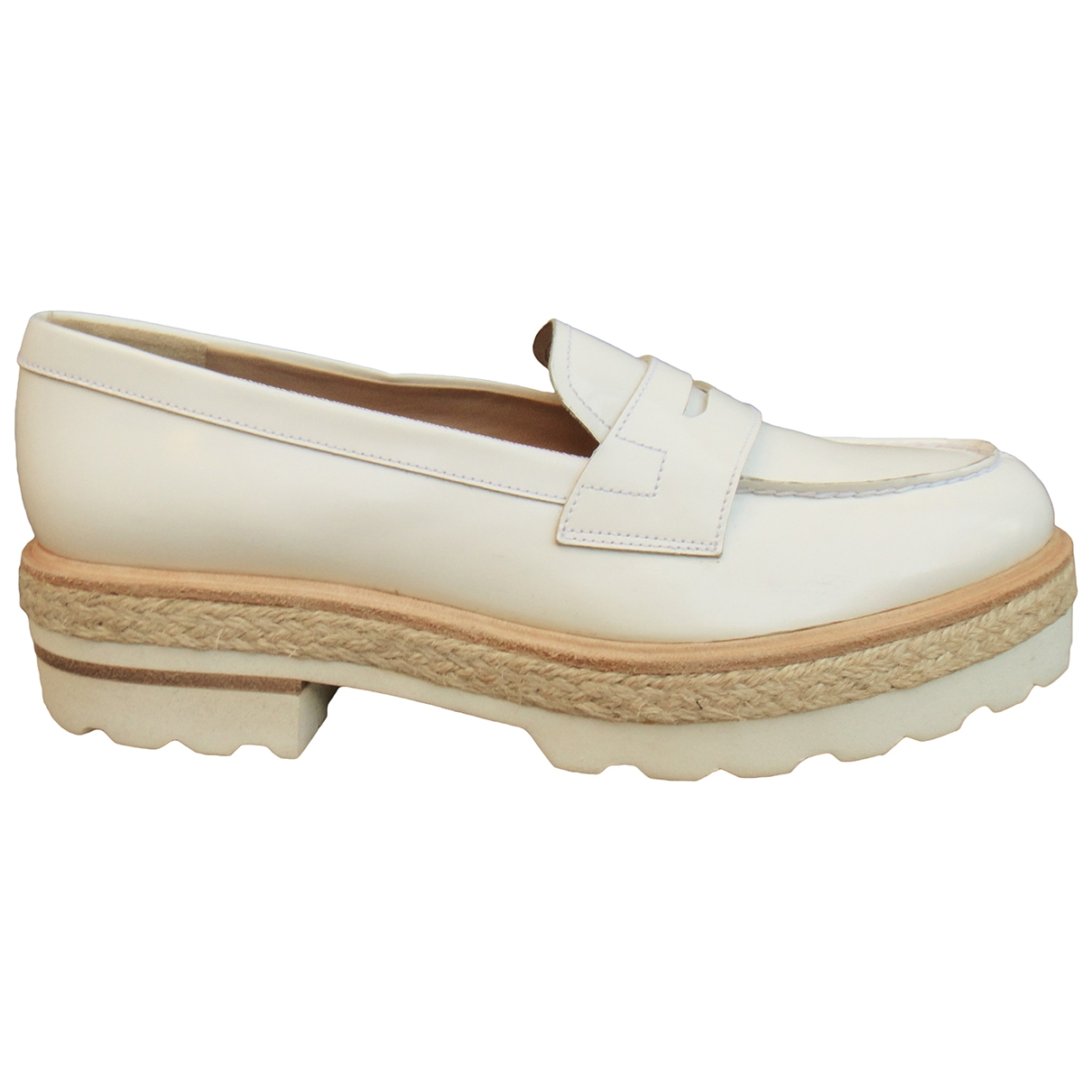 Fratelli Rossetti \N White Patent leather Flats for Women 38 IT