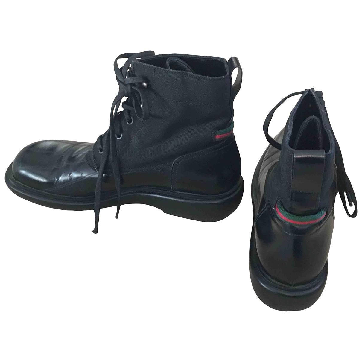 Gucci - Boots   pour femme en cuir - noir