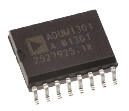 Analog Devices ADUM1301ARWZ , 3-Channel Digital Isolator 1Mbps, 2.5 kVrms, 16-Pin SOIC W