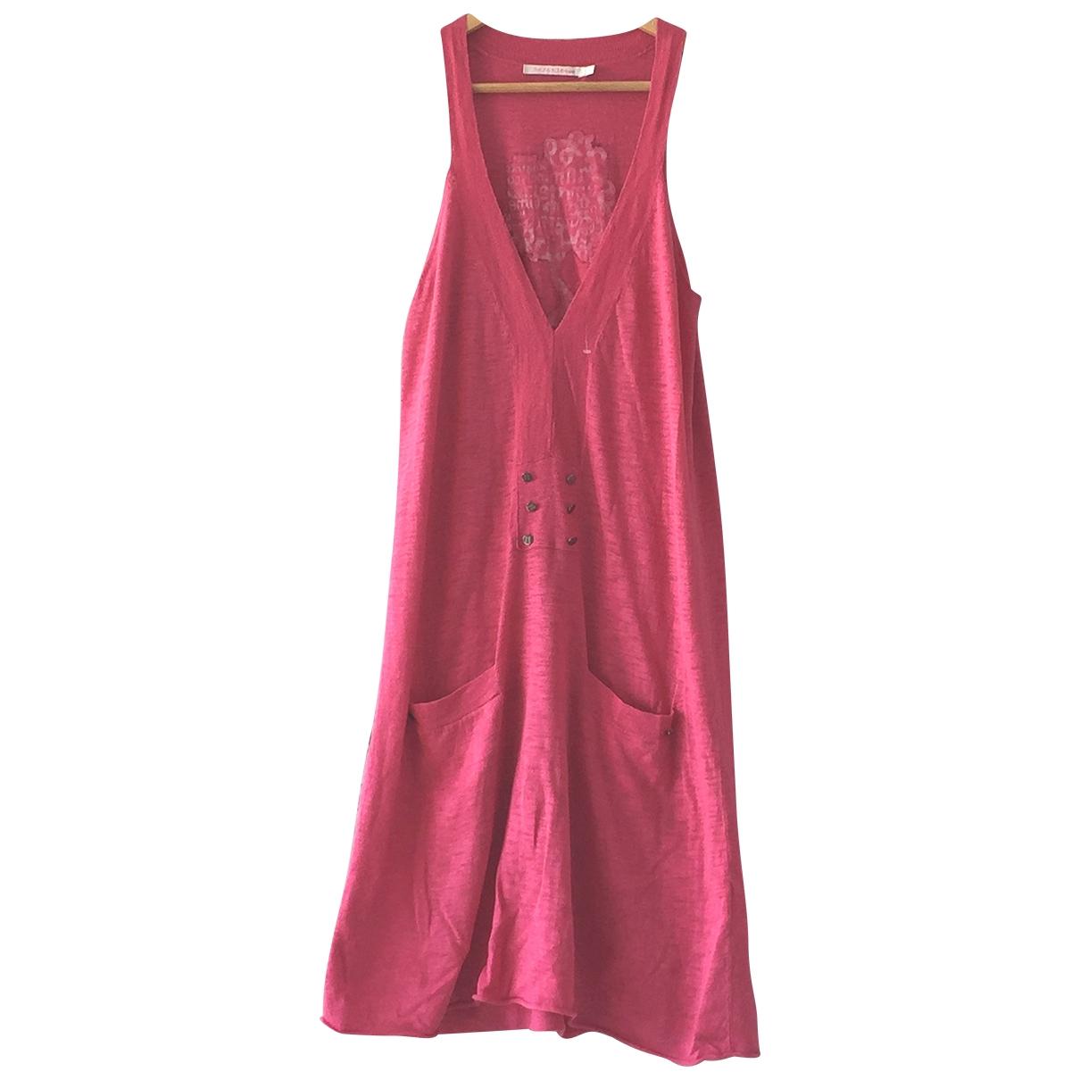Berenice - Robe   pour femme en lin - rose