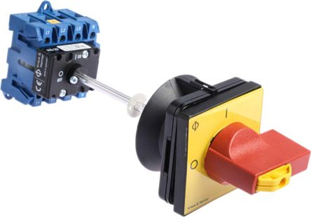 Kraus & Naimer 4 Pole Panel Mount Non Fused Isolator Switch - 25 A Maximum Current, 7.5 kW Power Rating, IP65