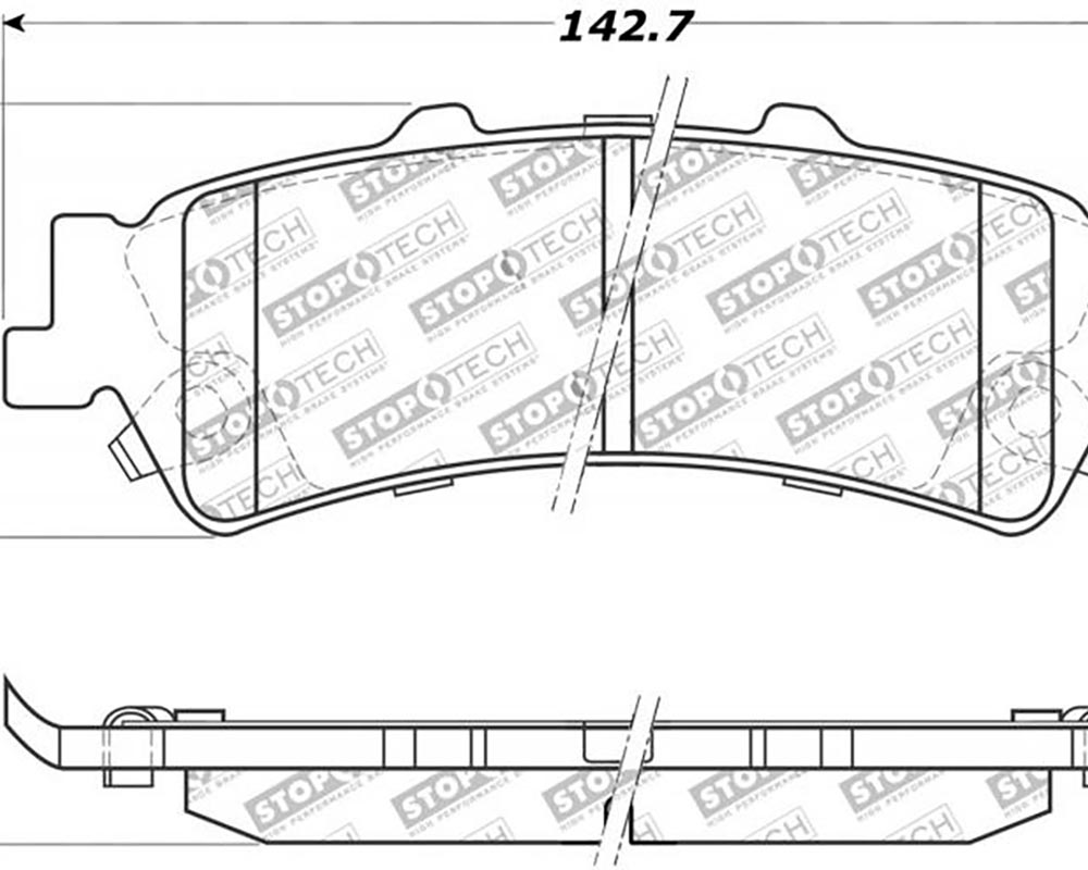 StopTech 309.0792 Sport Brake Pads with Shims/Hardware Rear