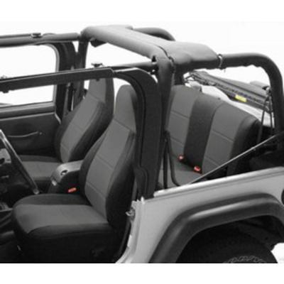 Coverking Neoprene Rear Seat Cover (Black/Charcoal) - SPC138