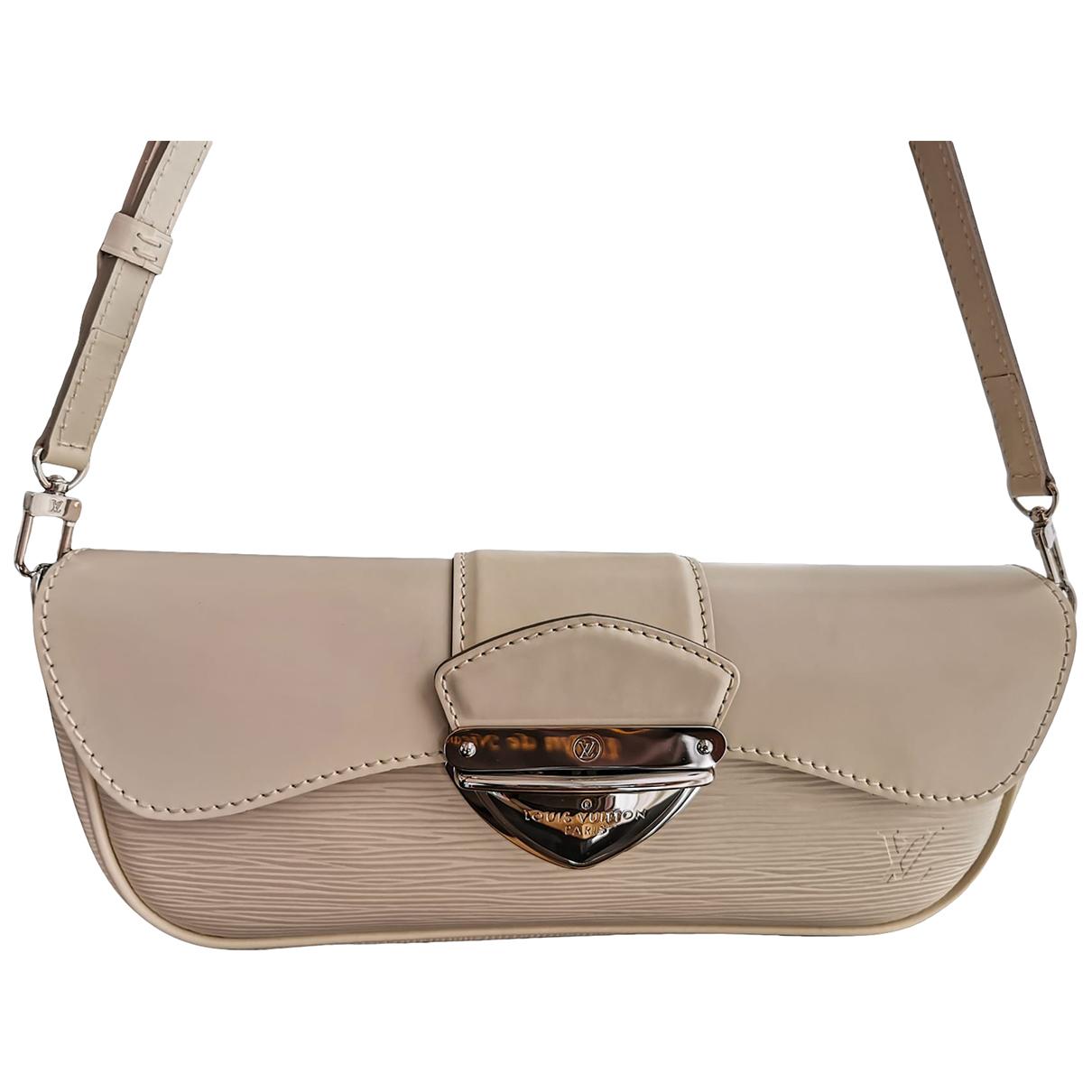 Louis Vuitton Beverly Handtasche in  Weiss Leder