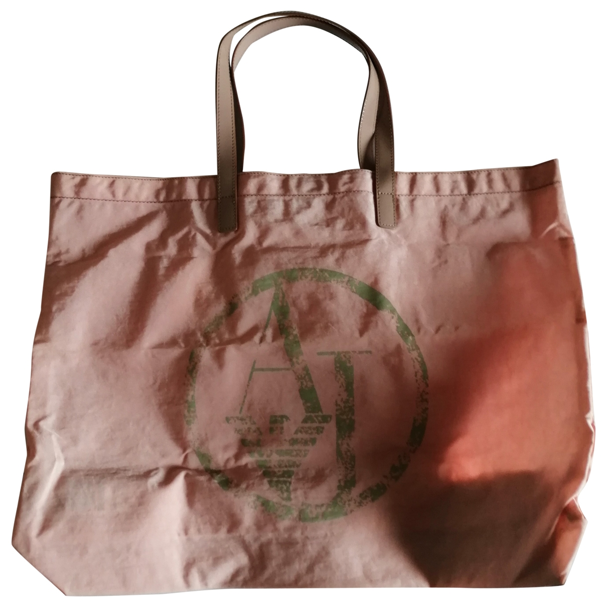 Armani Jeans \N Pink handbag for Women \N