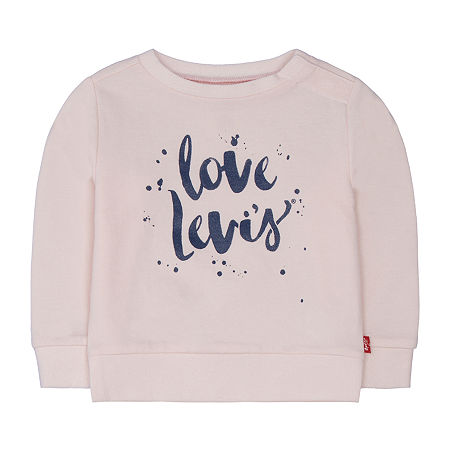 Levi's Baby Girls Long Sleeve Embellished T-Shirt, 18 Months , White