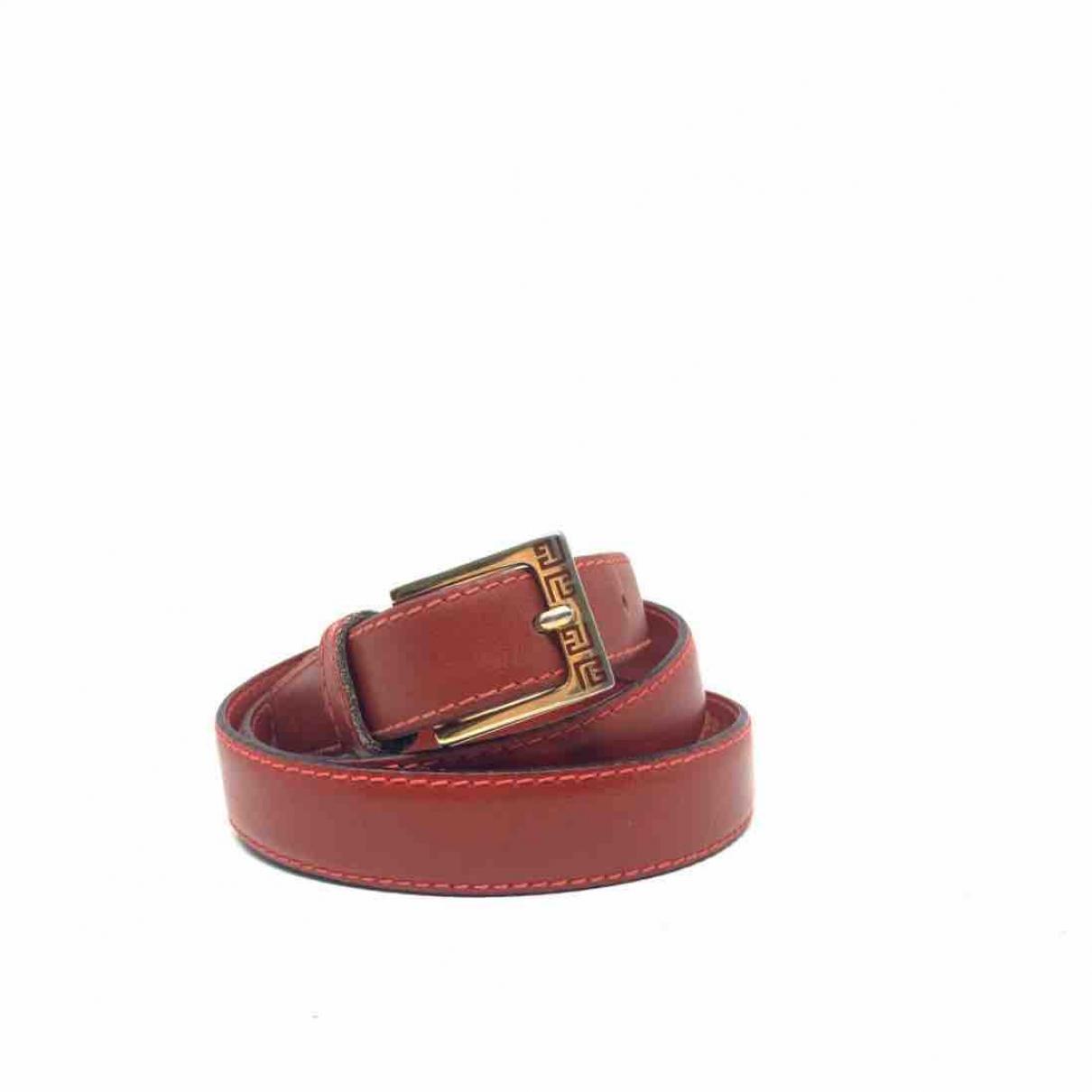 Pierre Balmain \N Red Leather belt for Women 75 cm