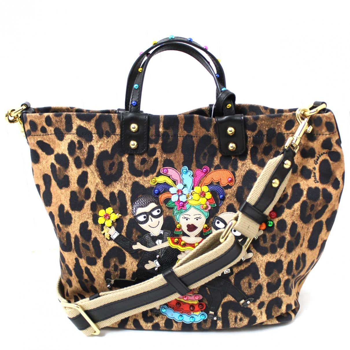 Dolce & Gabbana - Sac a main   pour femme en toile - multicolore