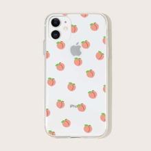 IPhone Huelle mit Pfirsichdruck