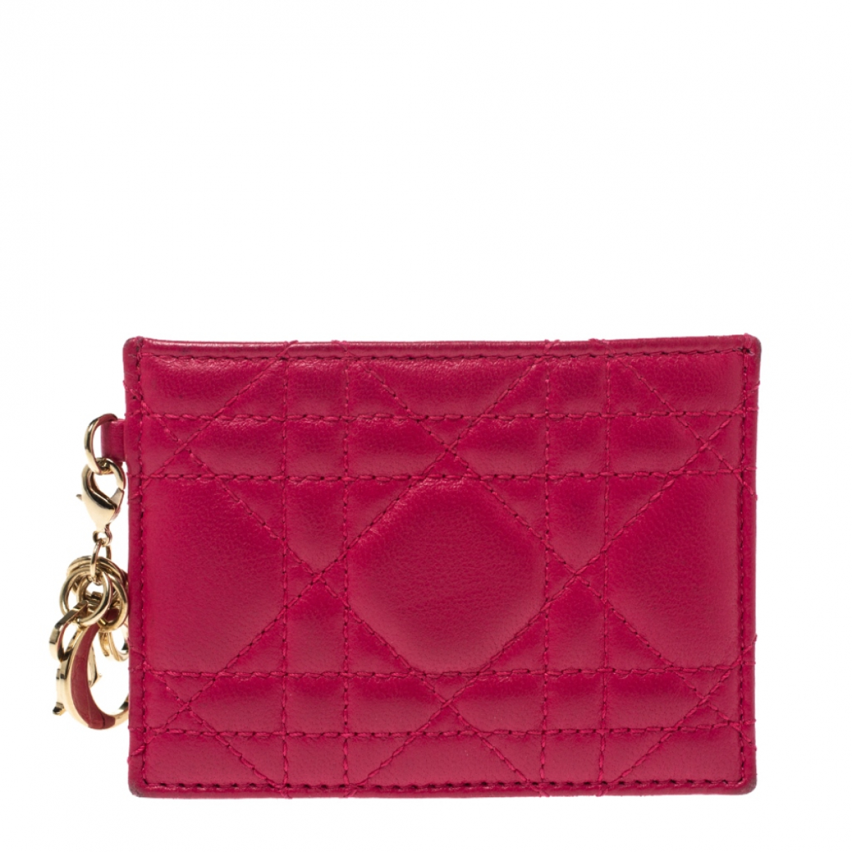 Dior Lady Dior Pink Leather wallet for Women N