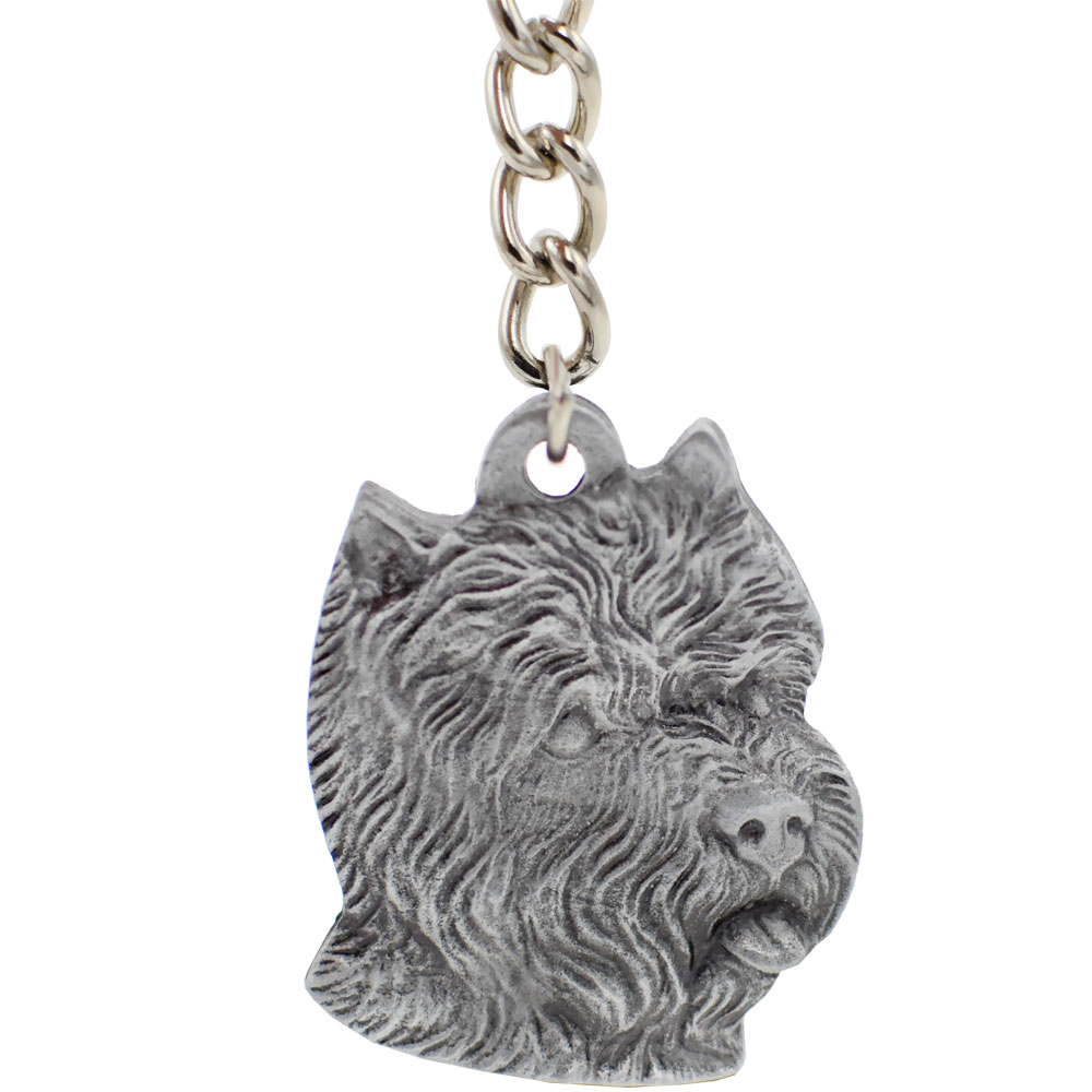 Dog Breed Keychain USA Pewter - West Highland Terrier (2.5
