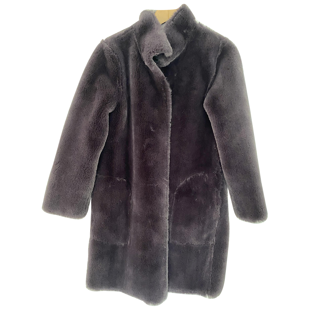 Velvet N Anthracite Faux fur coat for Women 8 UK